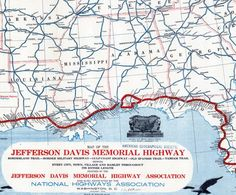 Map of the Jefferson Davis Memorial Highway - World Digital Library