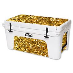 MightySkins Protective Vinyl Skin Decal for YETI Tundra 65 qt Cooler wrap cover sticker skins Gold Chips *** You can get more details by clicking on the image.(This is an Amazon affiliate link and I receive a commission for the sales)