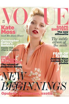 She appeared on her 31st cover of [i]Vogue[/i] wearing a Miu Miu dress and sporting glossy red lips.