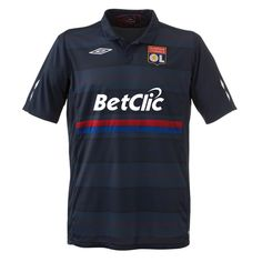 Olympique Lyon's 2009-2010 third jersey. I highly regret not purchasing this. I spent a lot of time looking for it with no sponsor on it, but never found it. Now I wish I would have just pulled the trigger on it with the BetClic. Too late now.