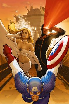 Captain America, Emma Frost, & Cyclops by John Tyler Christopher *