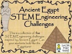 Engineering Ancient Egypt: STEM Engineering Challenges Five Pack! from Smart Chick on TeachersNotebook.com -  (42 pages)