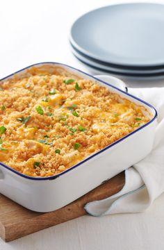 Cheesy, chicken-y and kid-friendly, this savory rice casserole is a crowd-pleaser. Perfect for an easy weeknight dinner!