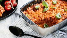 Kasviskiusaus - Yhteishyvä Creamy Vegan Pasta, Protein, Vegan Meatballs, K Food, Sauteed Kale, Baker Recipes, Fritters, Japchae, Snacks
