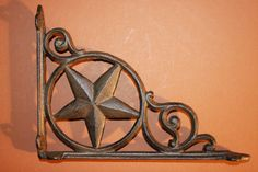 2 Lone star, Lonestar, Cast Iron Shelf Brackets, Corbels. FREE SHIPPING!  These shelf brackets offer free domestic shipping! Order today and your purchase will ship first thing tomorrow via priority mail! (normal business days)  The more you buy, the more you save! 2 for $24.98 3 for $36.98 4 for $46.98 6 for $59.98 8 for $74.98 9 for $96.98 10 for $105.98 12 for $120.98 14 for $132.98 16 for $148.98  ! ~~~~Please be sure your address is correct in Etsy and PayPal, as we can no longer…
