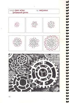 Doodle Steampunk gears #1