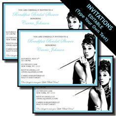 Breakfast at Tiffany's Printable Invitations por LeslieMarieINSTANT, $20.00