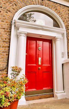 Georgian Door - Features a vertical letter plate - quite common for a panelled door of the time. Door Knockers, Door Knobs, Door Handles, Exterior Doors, Interior And Exterior, Georgian Doors, Black Doors, Door Furniture