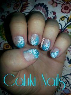 Nail art Copos de Nieve