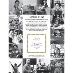 Personalised Formula 1 Newspaper Book: Item number: 3324419977 Currency: GBP Price: GBP39.95