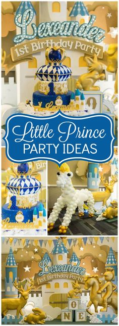 You have to see this elaborate prince birthday party! See more party ideas at CatchMyParty.com!