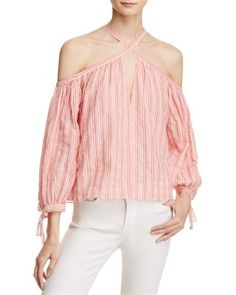 Rebecca Taylor Off-the-Shoulder Stripe Top - 100% Exclusive | Bloomingdale's