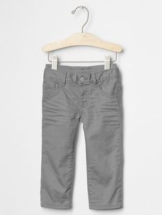 Pull-on colored straight jeans Product Image