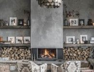 6 Vivid Cool Tips: Interior Painting Ideas Stains interior painting colors rustic.Living Room Paintings To Brighten interior painting colors ideas.Interior Painting With Wood Trim. Home Fireplace, Fireplace Design, Fireplaces, Concrete Fireplace, Concrete Wall, Grey Fireplace, Fireplace Ideas, Living Room Paint, Living Room Decor