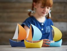 Mini paper boats can be used as party decor or favors for any nautical themed party! Make an adorable mini paper boat set using our easy printable template.