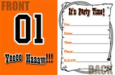 Dukes of Hazzard Party Invitations