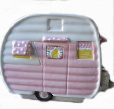 Hey, I found this really awesome Etsy listing at https://www.etsy.com/listing/167757625/glamping-pink-ceramic-bank-vintage