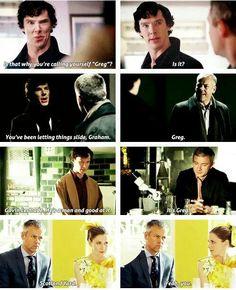 Sherlock vs Lestrade