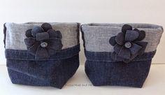 Quick & Easy Hand Sewn Upcycled Denim Storage Bag