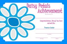 Girl Scout Daisy - Certificate: Promise Center