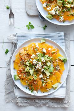 Dagmar's Kitchen orange salad. I just love the presentation of this shot. #vegetarian #healthy