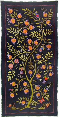 Suzani Arte Judaica, Kalamkari Designs, Guache, Textiles, Jewish Art, William Morris, Textile Art, Hand Embroidery, Folk Art
