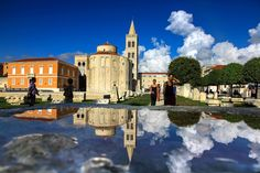 Church of St. Donat, with bell tower of St. Anastasia cathedral. City of Zadar, Croatia #donat #zadar