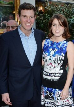 Jack Brooksbank and Princess Eugenie of York attend Tracey Emin's birthday party at Mark's Club, 03.07.2014 in London, England.