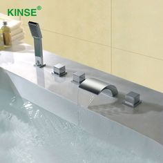 Shower Faucets Bathroom Fixtures Obedient Digital Display Smart Shower Controller Touch Control Panel Rainfall Massage Celling Bathroom Thermostat Waterfall Shower Set