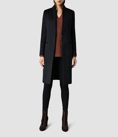 All saints - Femmes Eryn Coat (Black) -