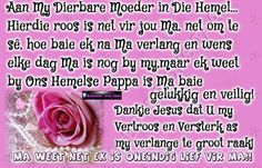 Afrikaans, Love Life, Grief, Gold Rings, Prayers, Heaven, Rose Gold, Sky, Heavens