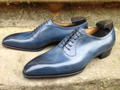 "bespoke-england: ""Bowlly in Midnight Blue Calf """