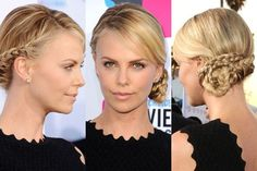 Charlize Theron's braided side bun | allure.com