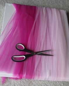 love this idea for cutting pesky tulle for tutus