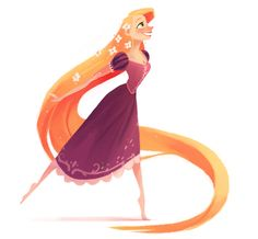 For his Disney Challenge project, Rafael Mayani watched every animated film ever produced by Disney, and then created an illustration based on each feature. TANGLED - 2010