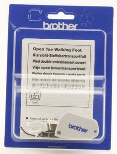 Brother SA188 Open Toe Walking Foot - Walking foot provides secure fabric feeding with open toe for use with both utility and decorative stitches.  Fits the following machines: PE770, LS2125i, XL2230, XL2600i, XL2610, XL3510, XL3750, ES20... - Presser Feet - Arts & Crafts$45.94