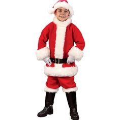 Deluxe Child Santa Suit Christmas Xmas Holiday « Clothing Impulse