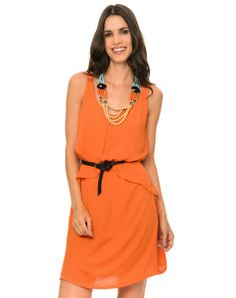 Vestido laranja Aremo - http://www.cashola.com.br/blog/moda/vestidos-de-verao-para-todos-os-tipos-de-corpos-402