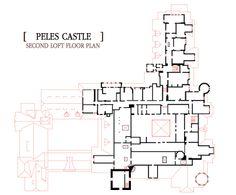 Second Loft Floor Plan Castle Floor Plan, House Floor Plans, Peles Castle, Architecture Design, Flooring, How To Plan, Houses, Sims 4, Maps