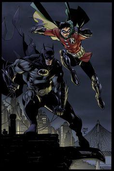 Batman and Robin by Jim Lee by juan7fernandez.deviantart.com on @deviantART