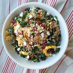 Proof that quinoa salads are anything but boring: This recipe loaded with sweet roasted squash, kale, and feta is a total flavor bomb.  Get the recipe: Quinoa Salad With Roasted Squash, Dried Cranberries, and Pecans