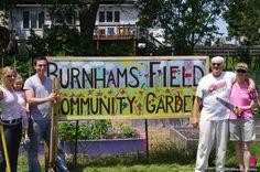 Burnhams Field garden sign team