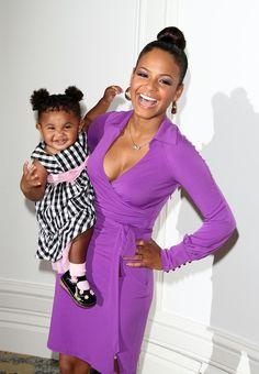 Christina Milian & daughter Violet