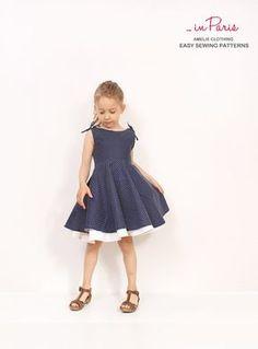 Modèle de robe de cercle Adria - filles robe Couture patrons - INSTANT DOWNLOAD - tailles de 2 à 10 ans par AmelieClothing sur Etsy https://www.etsy.com/fr/listing/184024020/modele-de-robe-de-cercle-adria-filles