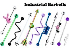 Colored industrial barbells