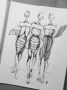#fashion #fashionsketch #sketch #illustration #fashionillutration Fashion Sketches, Illustrations, Art, Craft Art, Fashion Sketchbook, Illustration, Kunst, Gcse Art, Fashion Drawings