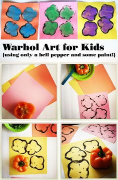 Let's talk Warhol...  Studying Warhol with my kids was a huge success, and a whole lot of fun.  Whenever I introduce my kids to a new artist, I approach it like I'm  introducing them to just a regular person who happened to make really cool  art. There are a couple of really fun children's books written by Andy  Warhol's nephew, which makes this approach especially easy.  Once my son found out that he had 25 cats all named Sam, Andy Warhol  officially became the coolest guy ever! These are…