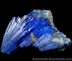 Radiating Linarite Crystals from Grand Reef Mine, Aravaipa District, Graham County, Arizona