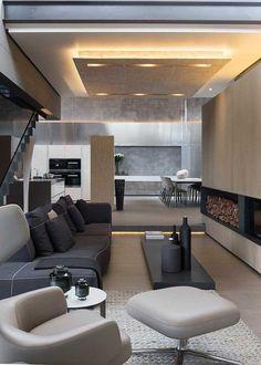 Home interior design living room Contemporary Interior, Modern Interior Design, Interior Architecture, Architecture Layout, Modern Interiors, House Interiors, Luxury Interior, Decoration Inspiration, Interior Inspiration