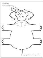 Folding elephant template